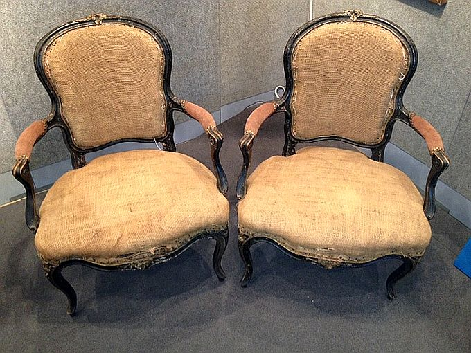 juergen antike m bel rokoko sessel mit rosshaar gepolstert. Black Bedroom Furniture Sets. Home Design Ideas